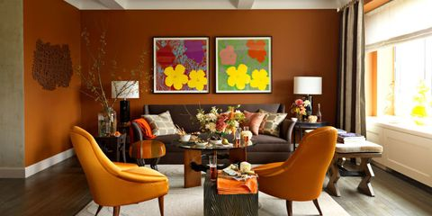 15 Chic Rooms in Orange and Black