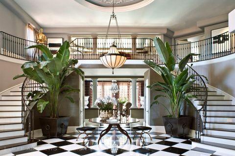 Stairs, Interior design, Lighting, Green, Property, Room, Ceiling, Real estate, Interior design, Flowerpot,