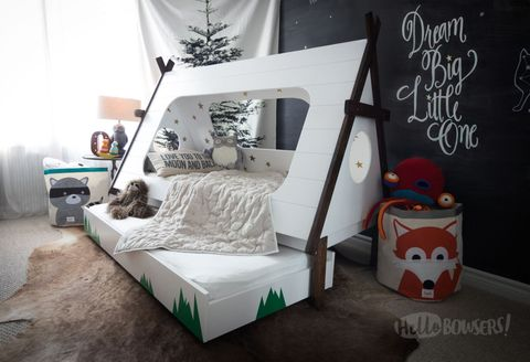 This Cool Mom Made an Awesome Teepee Bed for Her Son