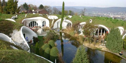 Plant, Landscape, Arch, Reflection, Garden, Pond, Urban design, Reflecting pool, Hacienda, Reservoir,