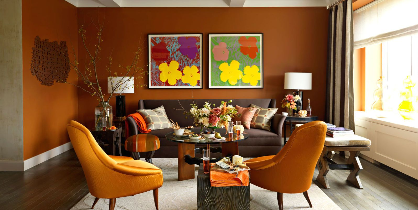 shades of orange - best orange paint colors