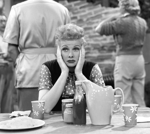 "<p>After her father's death in 1914, Lucille, mother Desiree Ball and stepfather Ed Peterson struggled with money so much so that she <a href=""http://www.biography.com/news/7-little-known-facts-about-lucille-ball"" target=""_blank"">couldn't afford a pencil</a> for class. </p>"