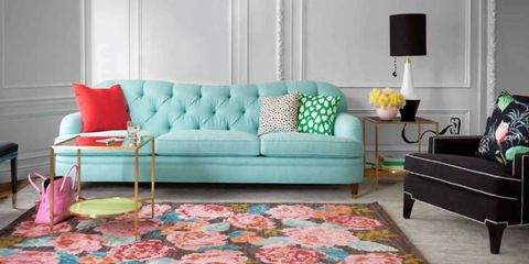 Blue, Room, Interior design, Green, Living room, Furniture, Wall, Floor, White, Couch,