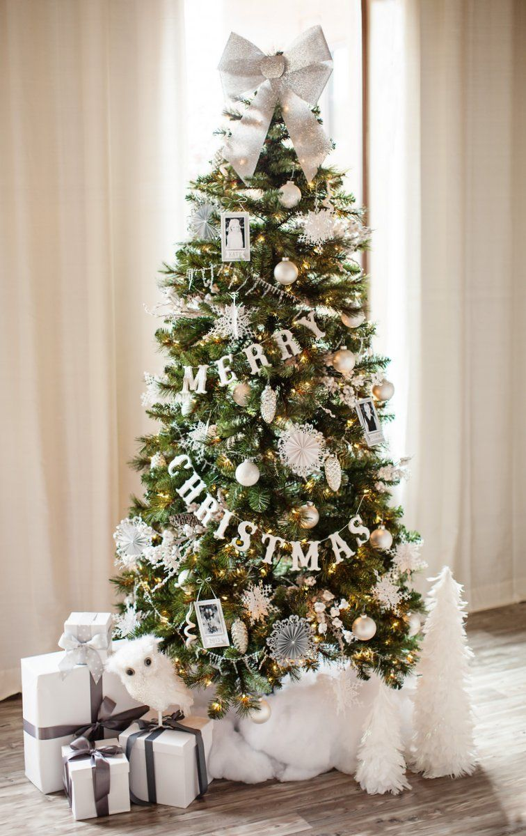 50 christmas tree decoration ideas pictures of beautiful christmas trees - White Christmas Tree Decorations