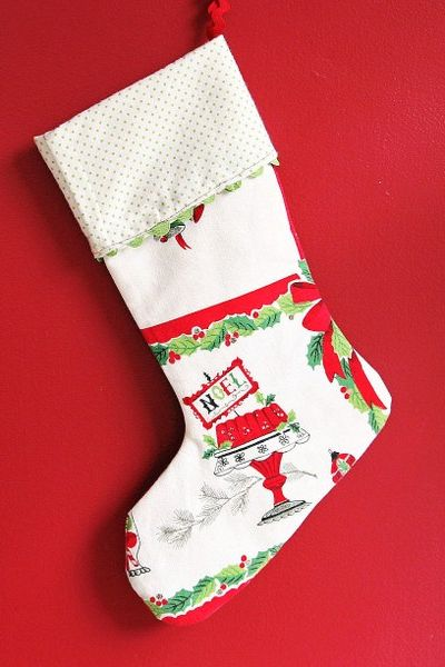 Red Christmas Stocking.Mermaid Your Mantel