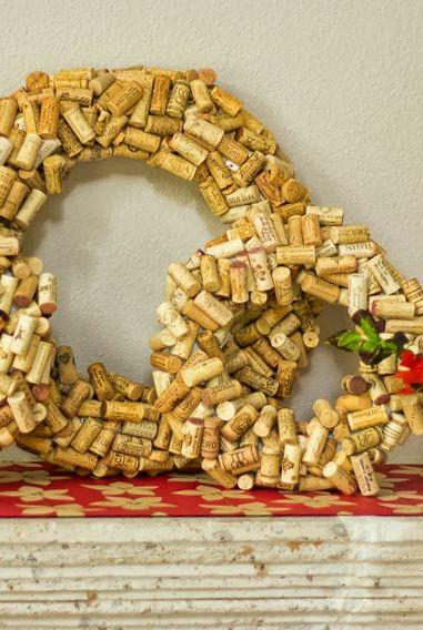 image design improvised cork wreath - Horseshoe Christmas Wreath