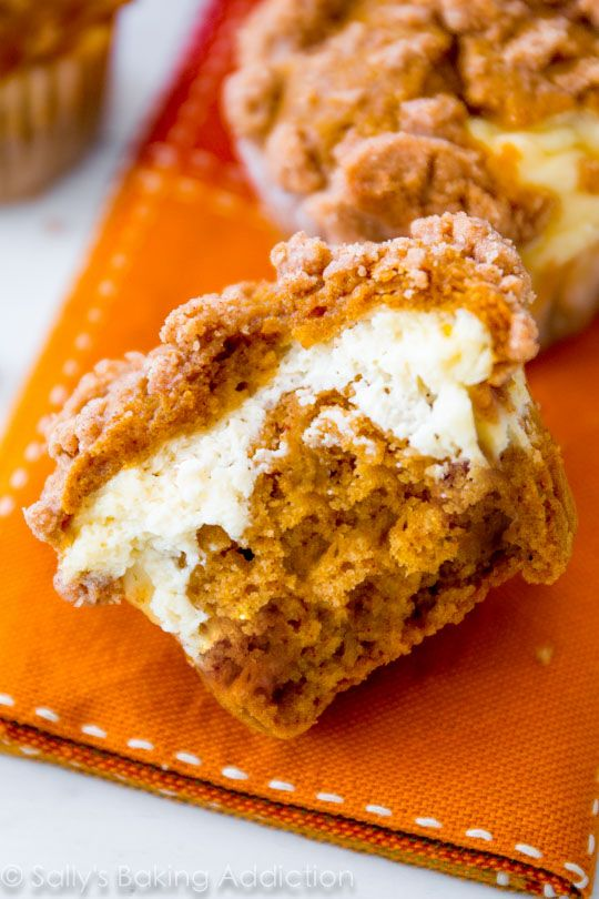 "<p>Cheesecake is everything your muffins have been missing.</p><p>Get the recipe from <a href=""http://sallysbakingaddiction.com/2013/10/24/pumpkin-cheesecake-muffins/"">Sally's Baking Addiction</a>.</p>"