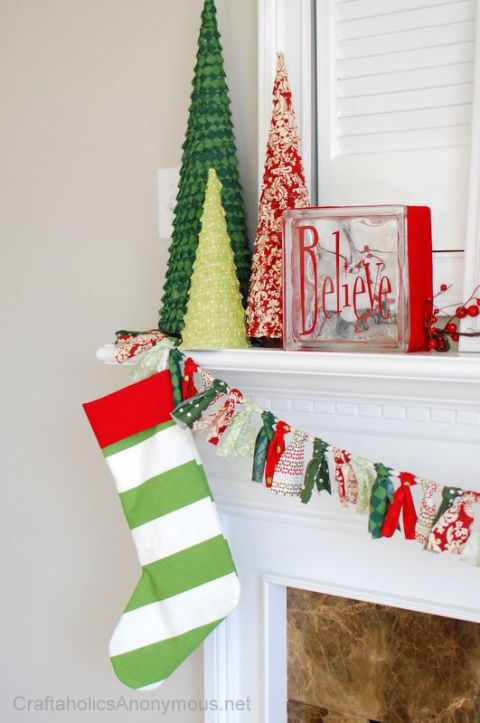 a simple set of stripes offer a bold statement when the two colors pop like - Decorating Christmas Stockings