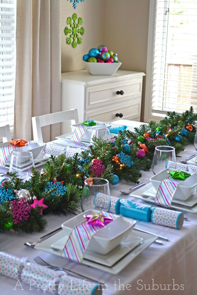 & 37 Christmas Table Decorations u0026 Place Settings - Holiday Tablescapes