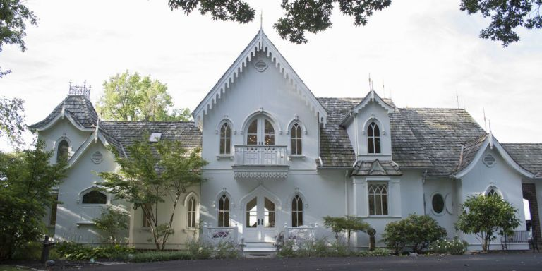 Gothic Revival White Home Tour - American Gothic House Design