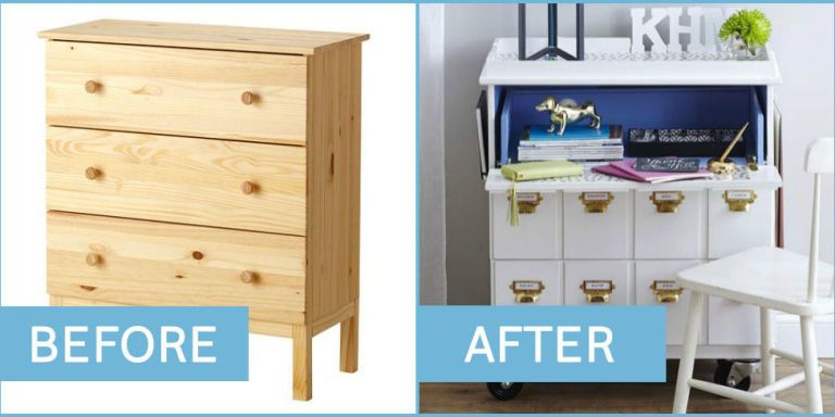 25 best ikea furniture hacks diy projects using ikea for Kitchen cabinet trends 2018 combined with outdoor company stickers