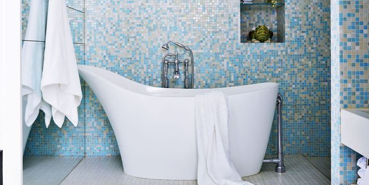Blue Bathroom Ideas Gratifying You Who Love Blue Color: 30+ Bathroom Tile Design Ideas