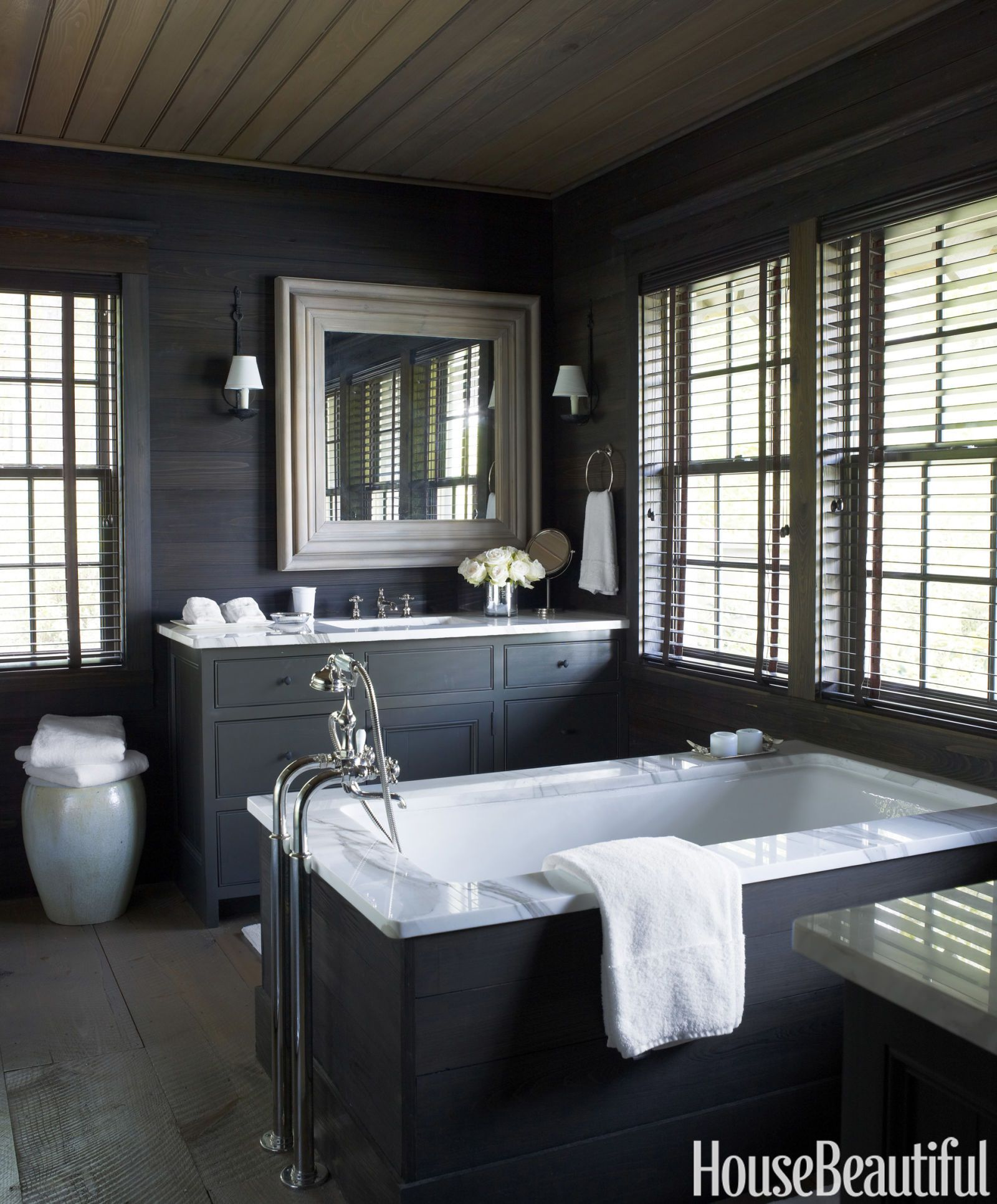 Nice Small Bathroom Color Scheme Ideas Part - 13: House Beautiful