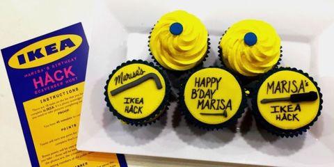Yellow, Dessert, Cake decorating supply, Cupcake, Sweetness, Baked goods, Baking cup, Cake, Baking, Cake decorating,