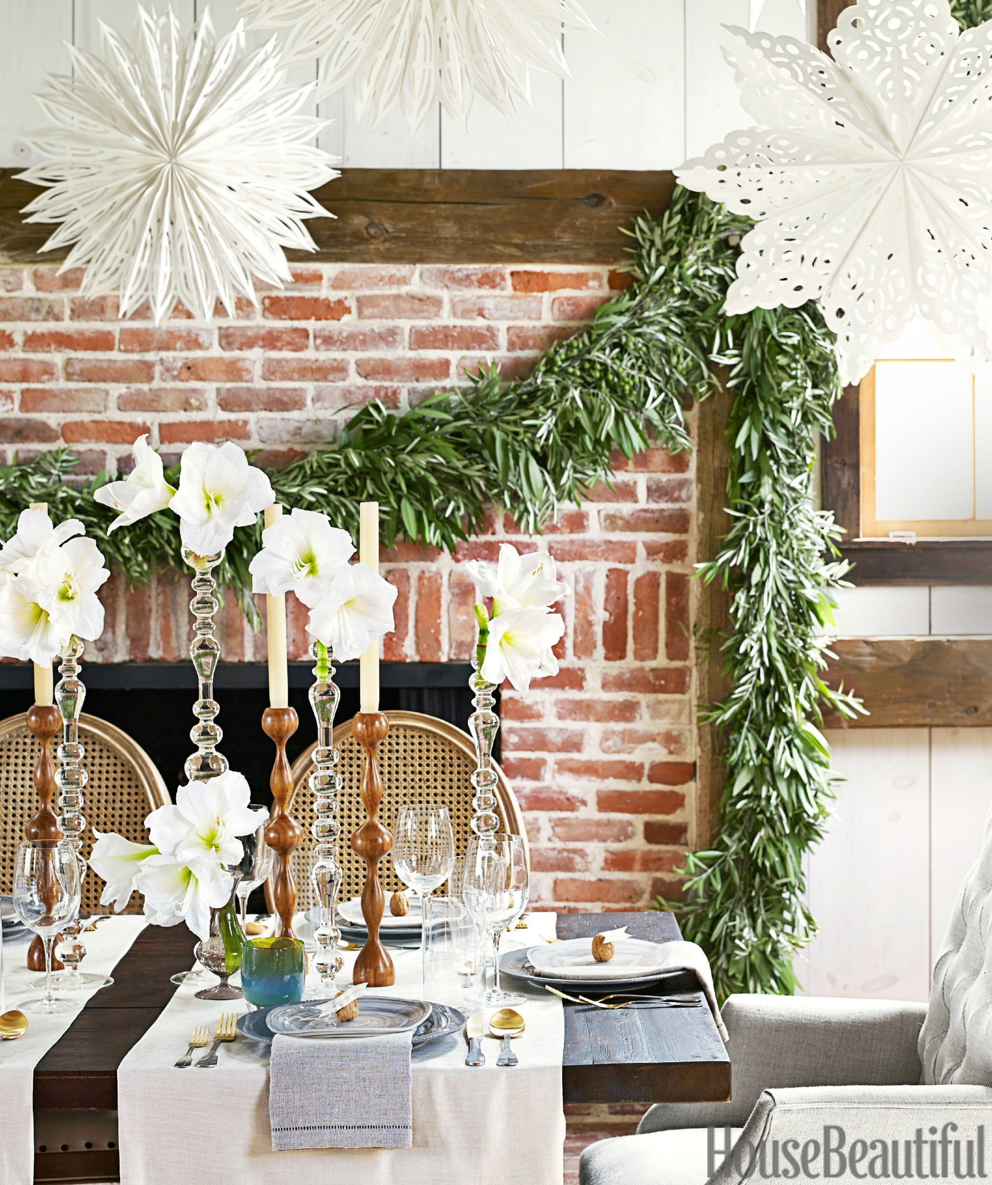 Floral Table Decorations For Christmas  1448464462 Christmas Garland Copy