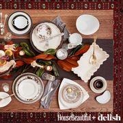 Serveware, Dishware, Porcelain, Ceramic, Platter, Plate, Dish, Meal, Flowering plant, Home accessories,