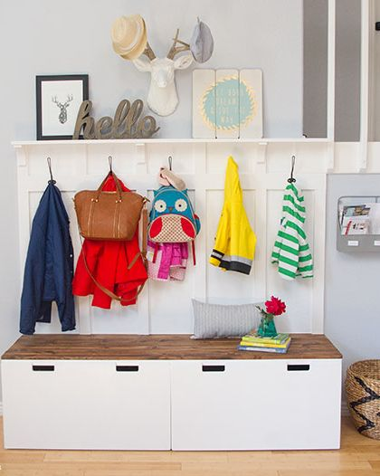 Entryway Mudroom Storage Ideas