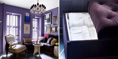 Blue, Room, Interior design, Property, Textile, Floor, Furniture, Wall, Purple, Home,