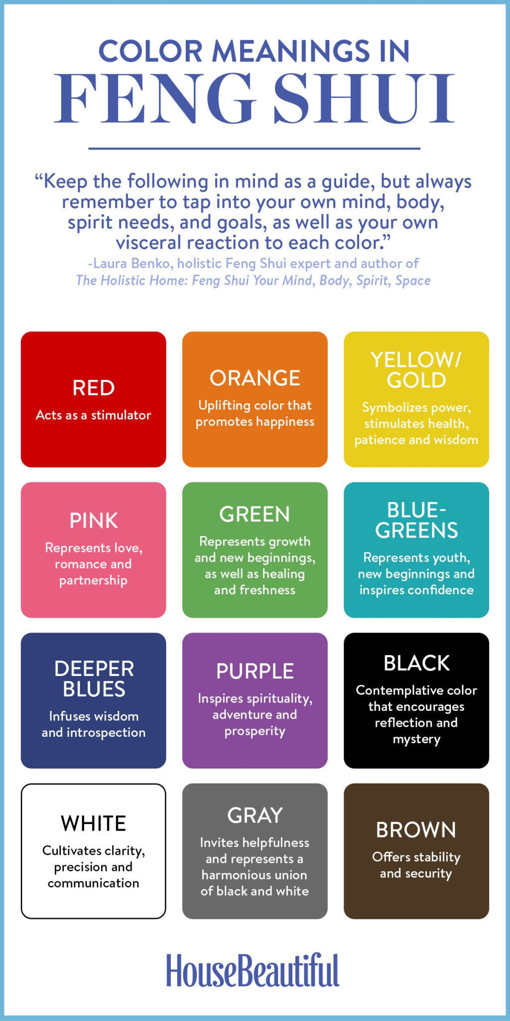 Color for bedroom feng shui