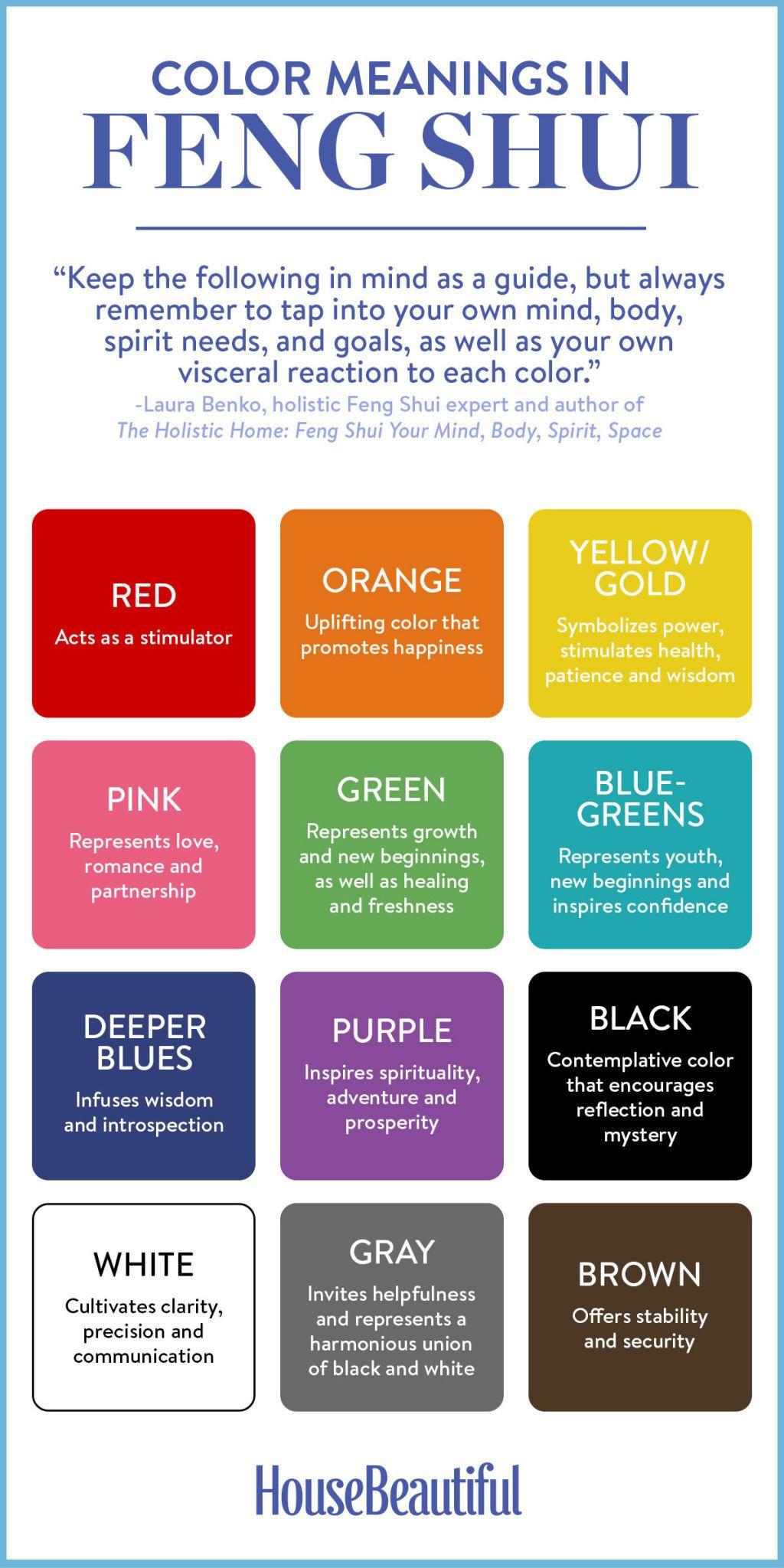 Color for bedroom feng shui