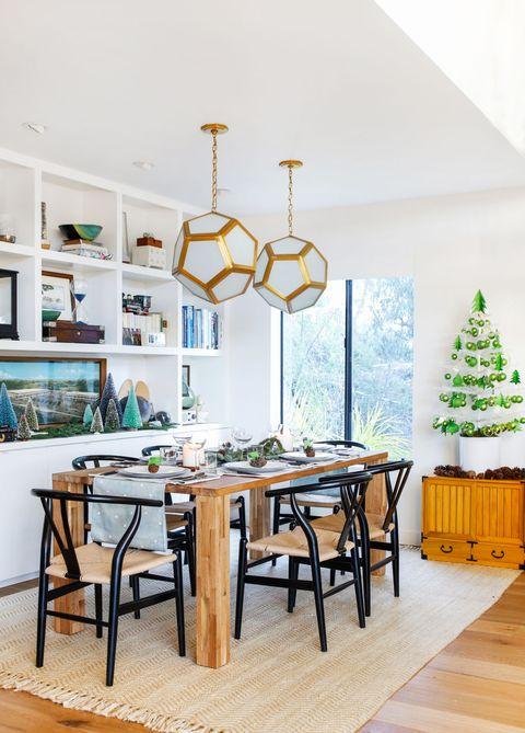 Room, Interior design, Table, Furniture, Interior design, Light fixture, Home, Chandelier, Hardwood, Lighting accessory,