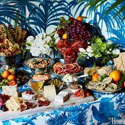 Food, Natural foods, Produce, Vegan nutrition, Sweetness, Food group, Whole food, Tablecloth, Serveware, Majorelle blue,