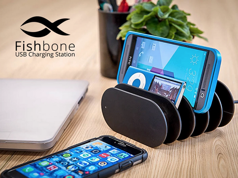 Fishbone charging station