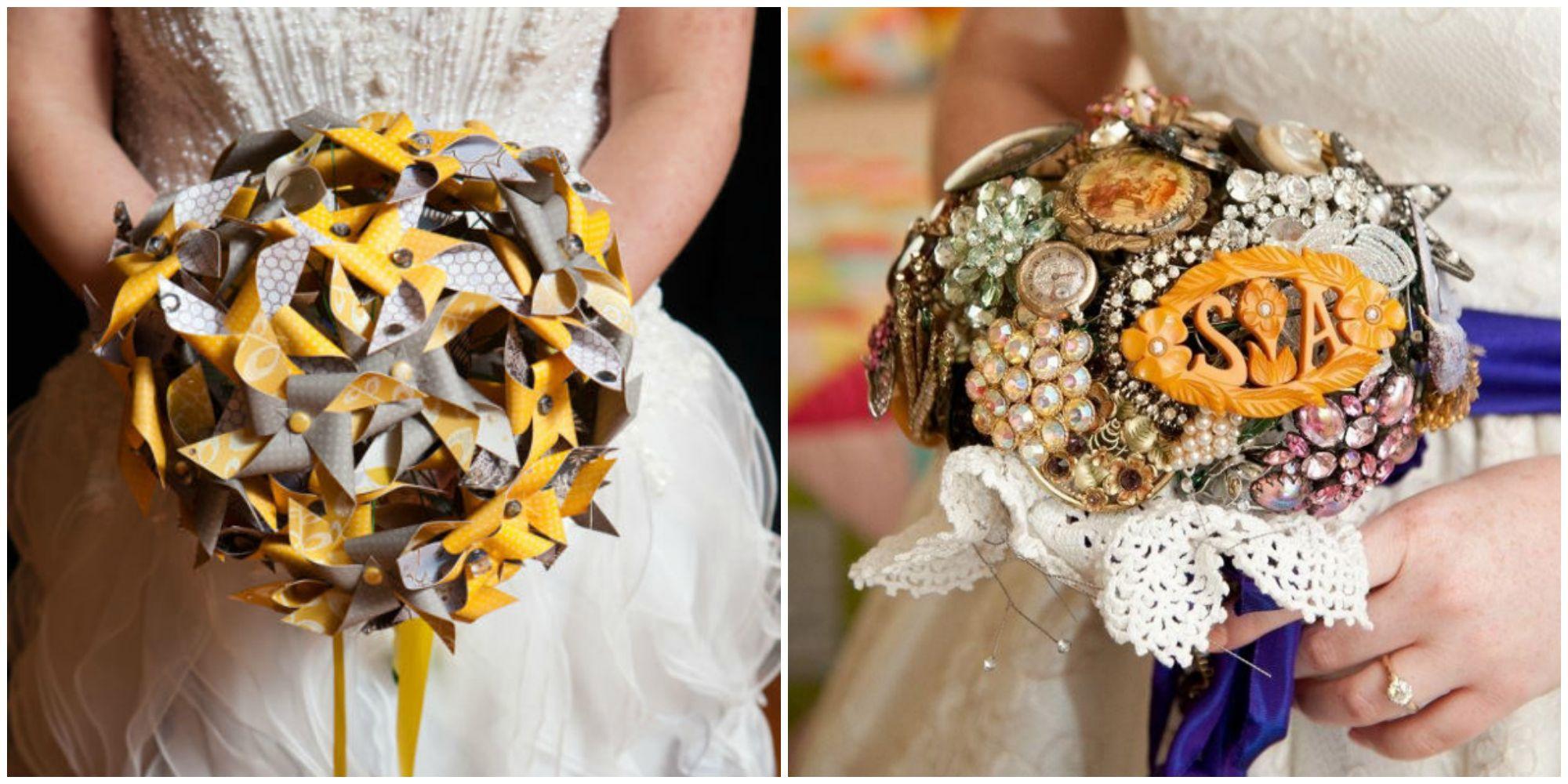 Bouquets That Aren\'t Flowers - Alternative Wedding Bouquet Ideas