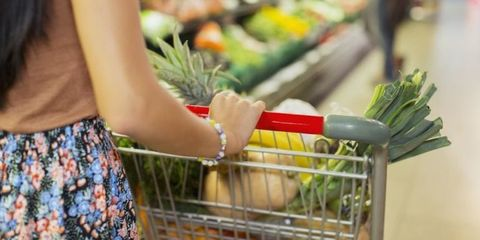 Supermarket, Grocery store, Vegetable, Natural foods, Shopping cart, Cart, Whole food, Plant, Retail, Vegan nutrition,