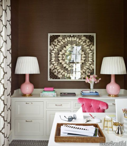 Pink and Pleated L&shades in the bedroom & How to Pick a Lampshade -- The Best Shade Shape for Your Lamp