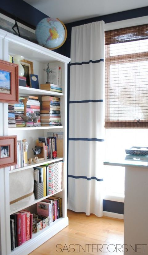 Room, Interior design, Shelf, Shelving, Window covering, Bookcase, Wall, Publication, Window treatment, Interior design,