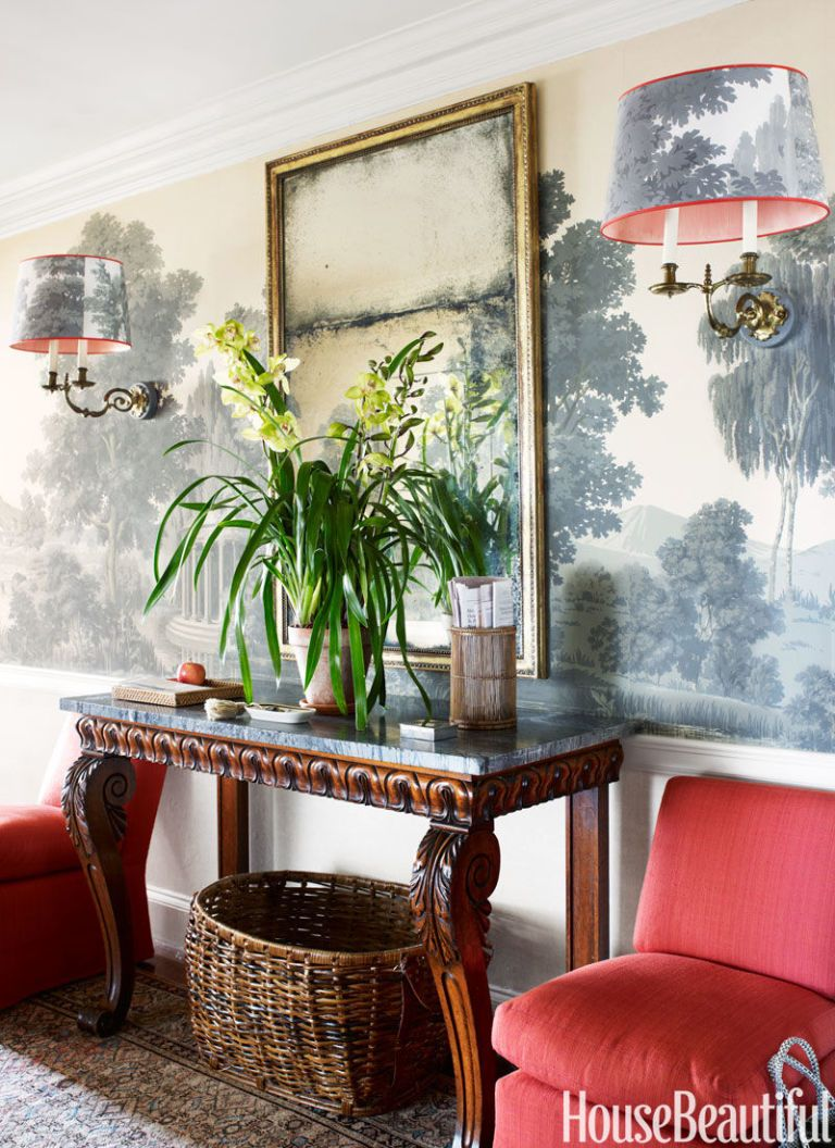 Red and gray patterned oval l&shades & How to Pick a Lampshade -- The Best Shade Shape for Your Lamp