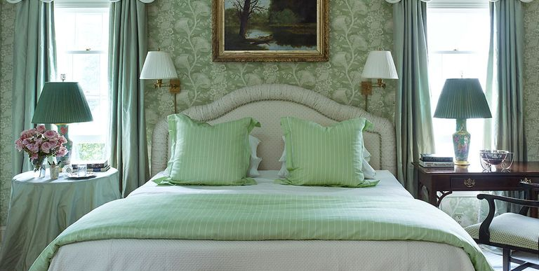 From a traditional master bathroom in Palm Beach to a cheery child's room  in Cape Cod, these gorgeous green bedroom designs will leave you green with  envy.