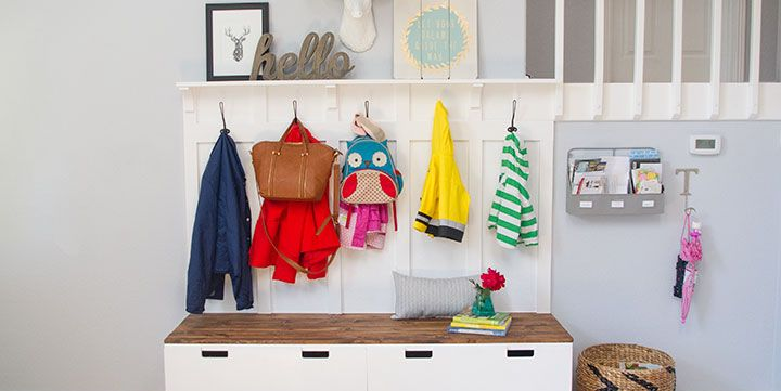 12 IKEA Hacks for Your Entryway - Entryway Mudroom Storage Ideas