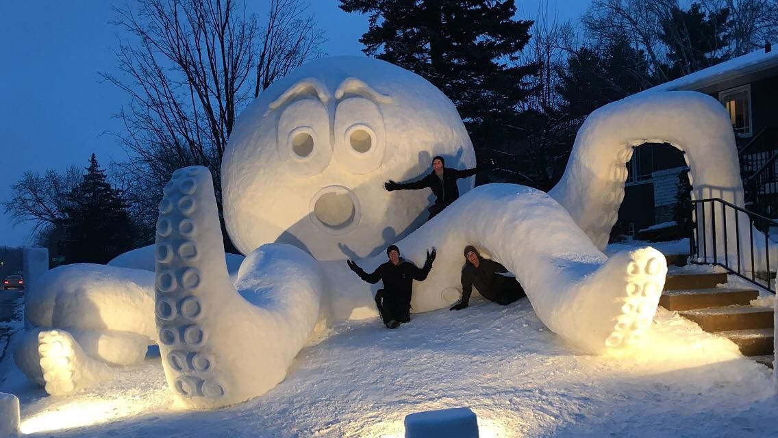Three Minnesota Brothers Created the Most Epic Snow Sculpture