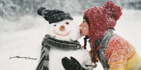 Kissing Snowman