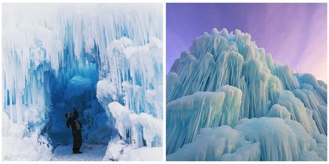 16 Utterly Enchanting Photos of Real-Life Ice Castles in New Hampshire
