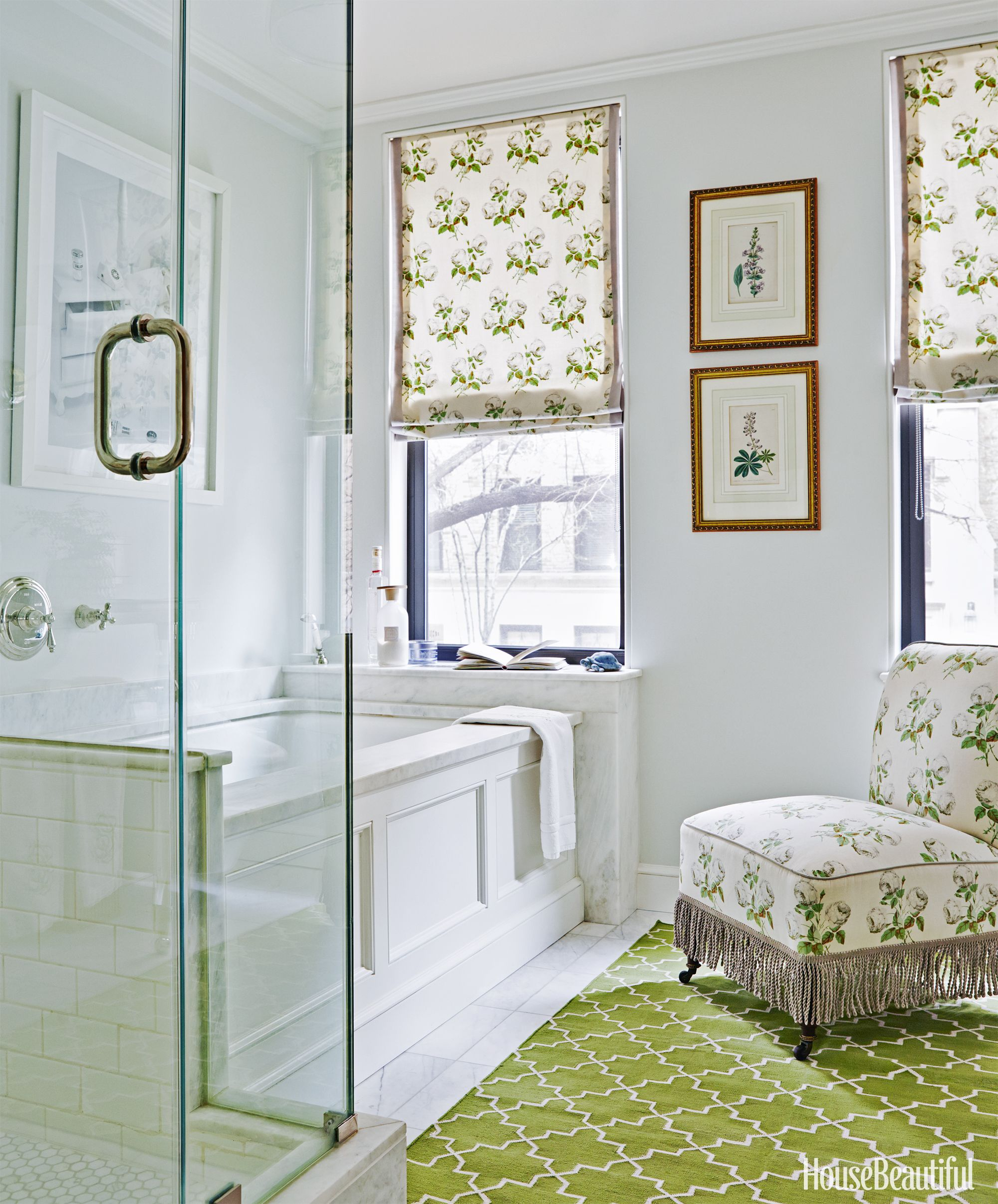 Brockschmidt And Coleman Apartment. Christopher Sturman. Floral Bathroom