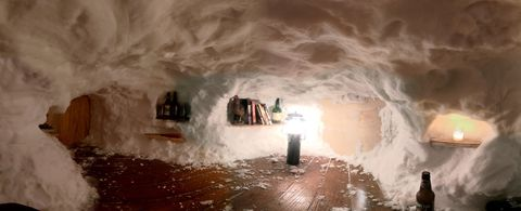 Cabin Fever Drives One Man to Build an Epic Multi-Room Igloo