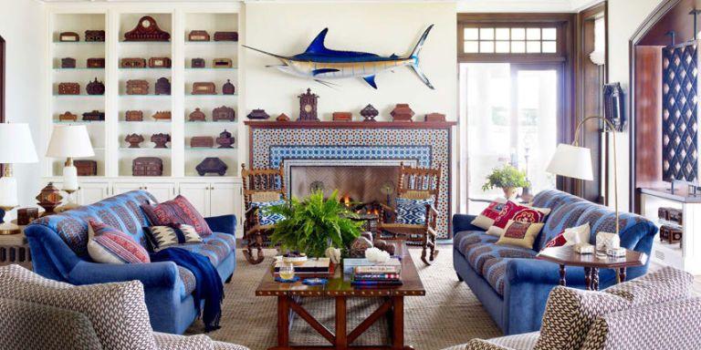 Nautical home decor ideas for decorating nautical rooms - Nautical theme living room ...