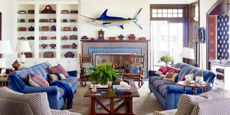 Lovely Nautical Home Decor   Ideas For Decorating Nautical Rooms   House Beautiful