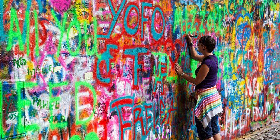 Famous Wall Art Around The World Wall Photo Travel Ideas