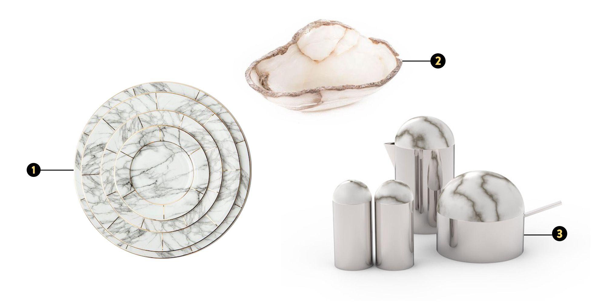 marbled stone home decor ideas