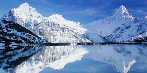 Snowy Swiss Alps