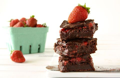 "<p>Get your daily dose of fruit with your brownies.</p> <p>Get the recipe from <a target=""_blank"" href=""http://www.chocolatemoosey.com/2013/06/18/chocolate-covered-strawberry-brownies/"">Chocolate Moosey</a>.</p>"