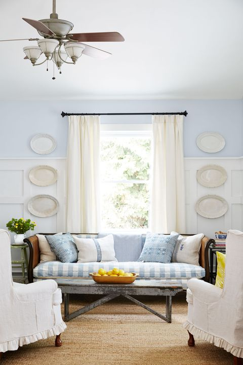 Wood, Blue, Room, Interior design, Wall, Floor, Home, Textile, Living room, Furniture,