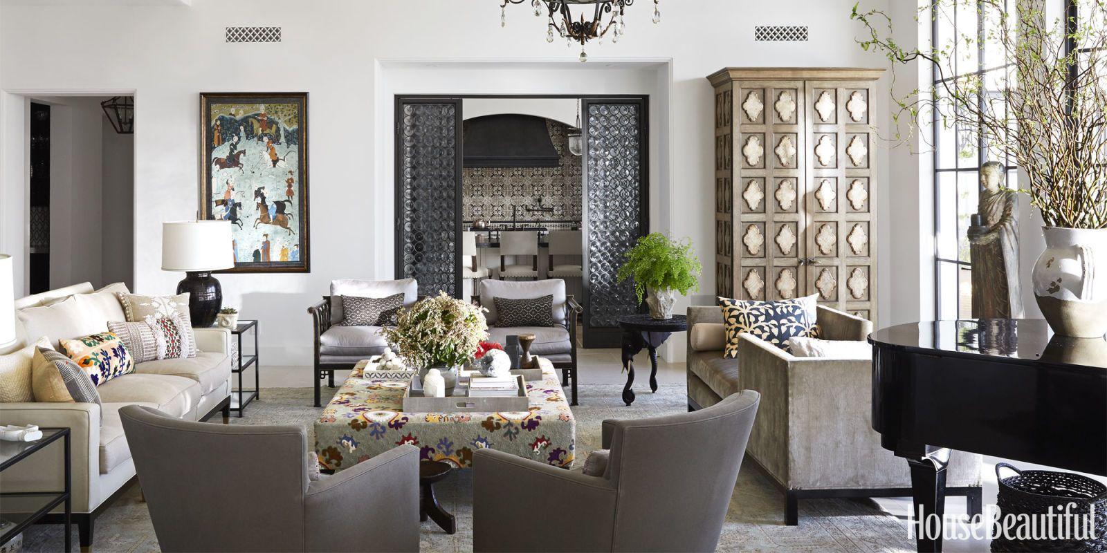 Moroccan decor in modern home