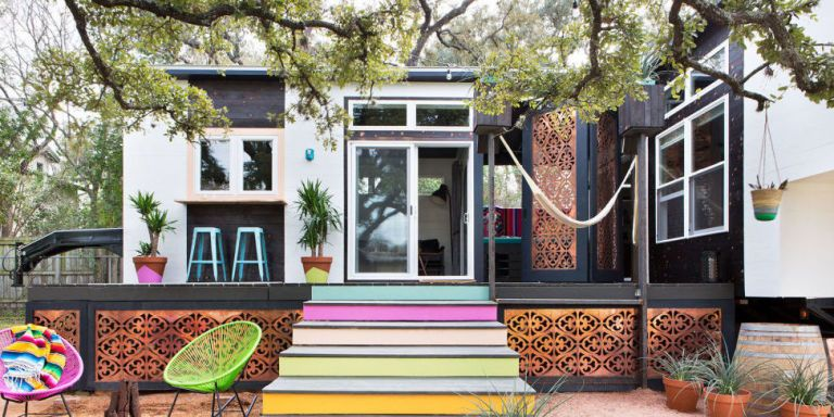 Take a Peek Inside Austin's Most Colorful 400-Square Foot Home