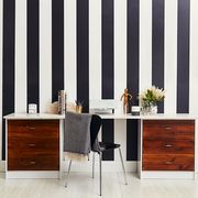 Furniture, Chest of drawers, Room, Wall, Interior design, Drawer, Table, Wallpaper, Desk, Line,