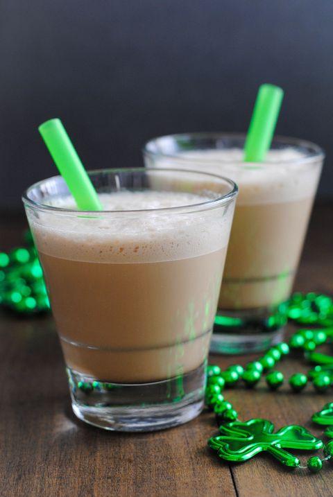 Minty and Boozy Iced Coffee